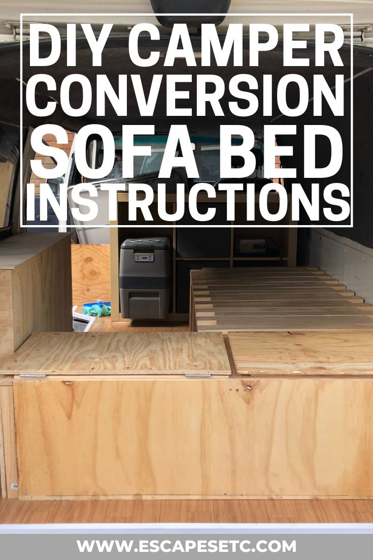 Diy Campervan Sofa Bed The Best Small Campervan Bed Design Escapes Etc
